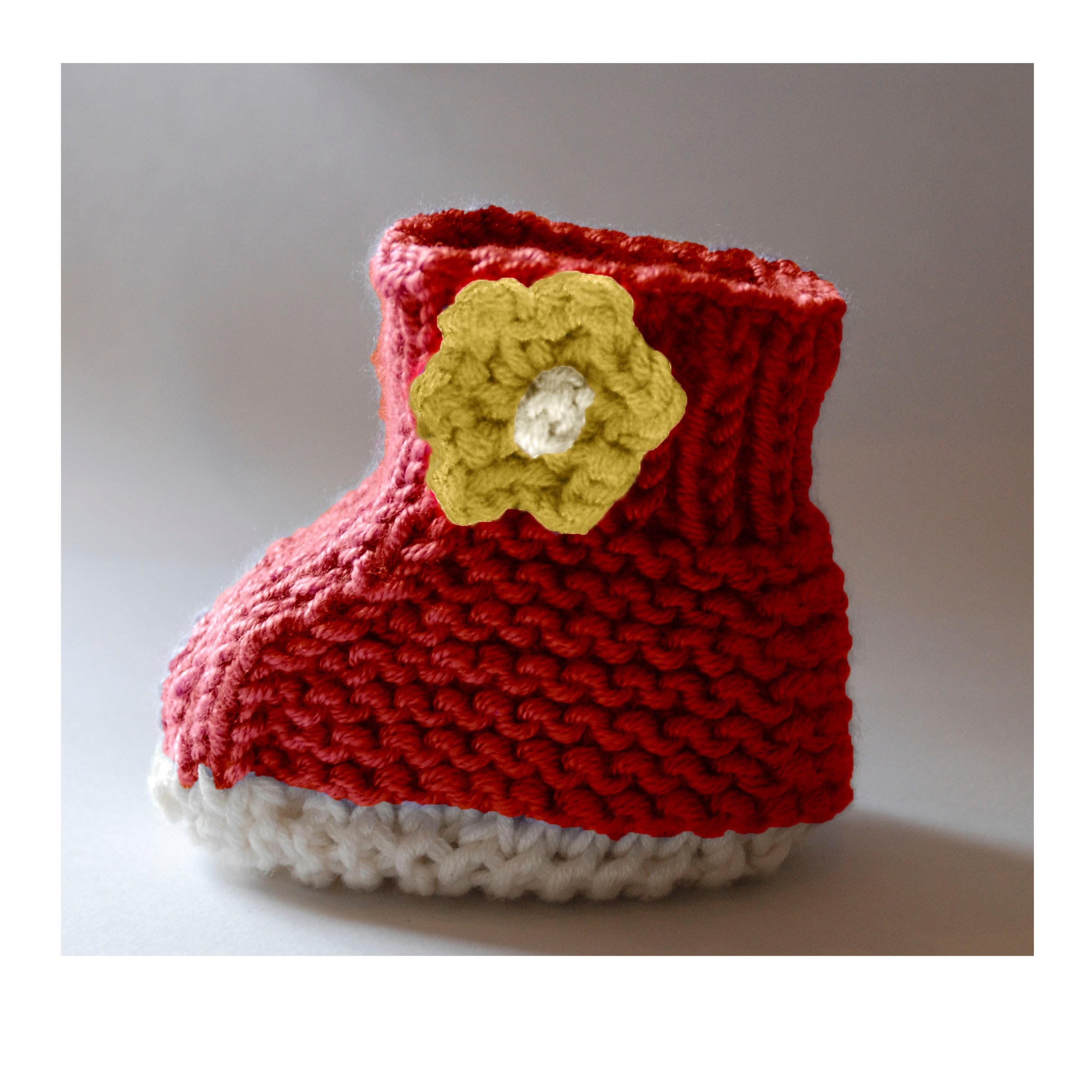 Baby Booties Knitting Pattern With Full Video Guide 0-12 Months