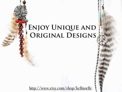 Beaded Feather Hair Extensions