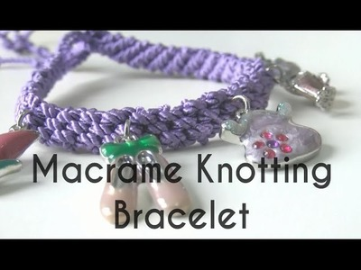 Beading Ideas - Bracelet by Macrame Knotting technique