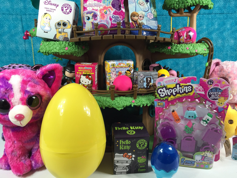 Beanie Boos Shopkins Zelfs Unicornos Play-Doh Surprise Eggs Blind Bag Treehouse Unboxing