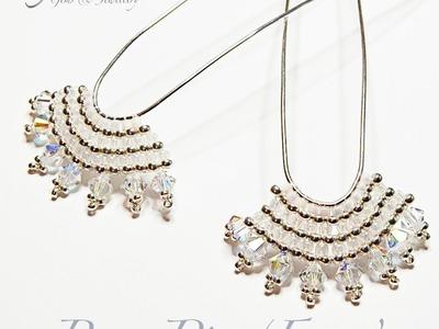 Bun Pin Fans Brick Stitch Beading Tutorial by Crystal Star Gems & Jewellery