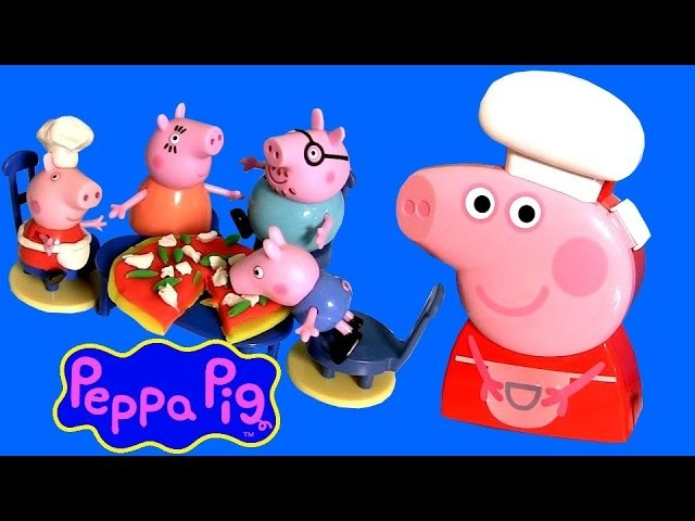 Chef Peppa Pig Carry Case Playset - How To Make Play Doh Veggie Cheese Pizza