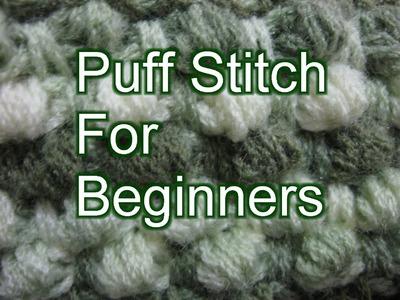 Crochet Puff Stitch - Slow Motion Crochet