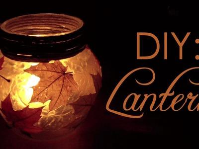 DIY: Autumn Lantern