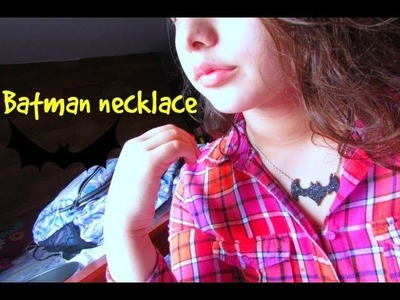 ❤DIY. Batman clay necklace. Collar de batman. arcilla polimerica❤