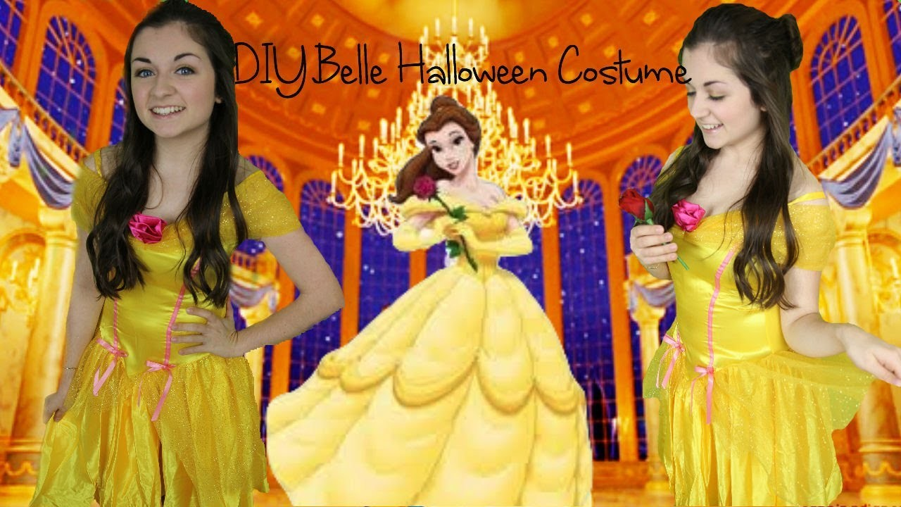 DIY Belle Beauty and the Beast Halloween Costume & Makeup!