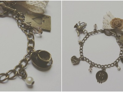 DIY Fashion: Alice In Wonderland Vintage Bracelet Tutorial