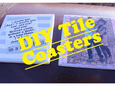 DIY Home: Tile Photo Coasters