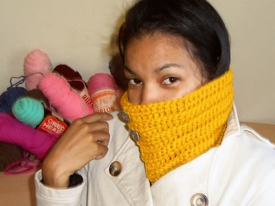 DIY How To Crochet  A Fashionable Neck warmer EASY
