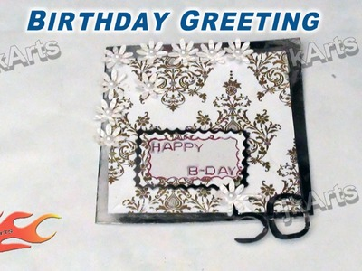 DIY How to make Birthday Greeting Card JK Arts 299