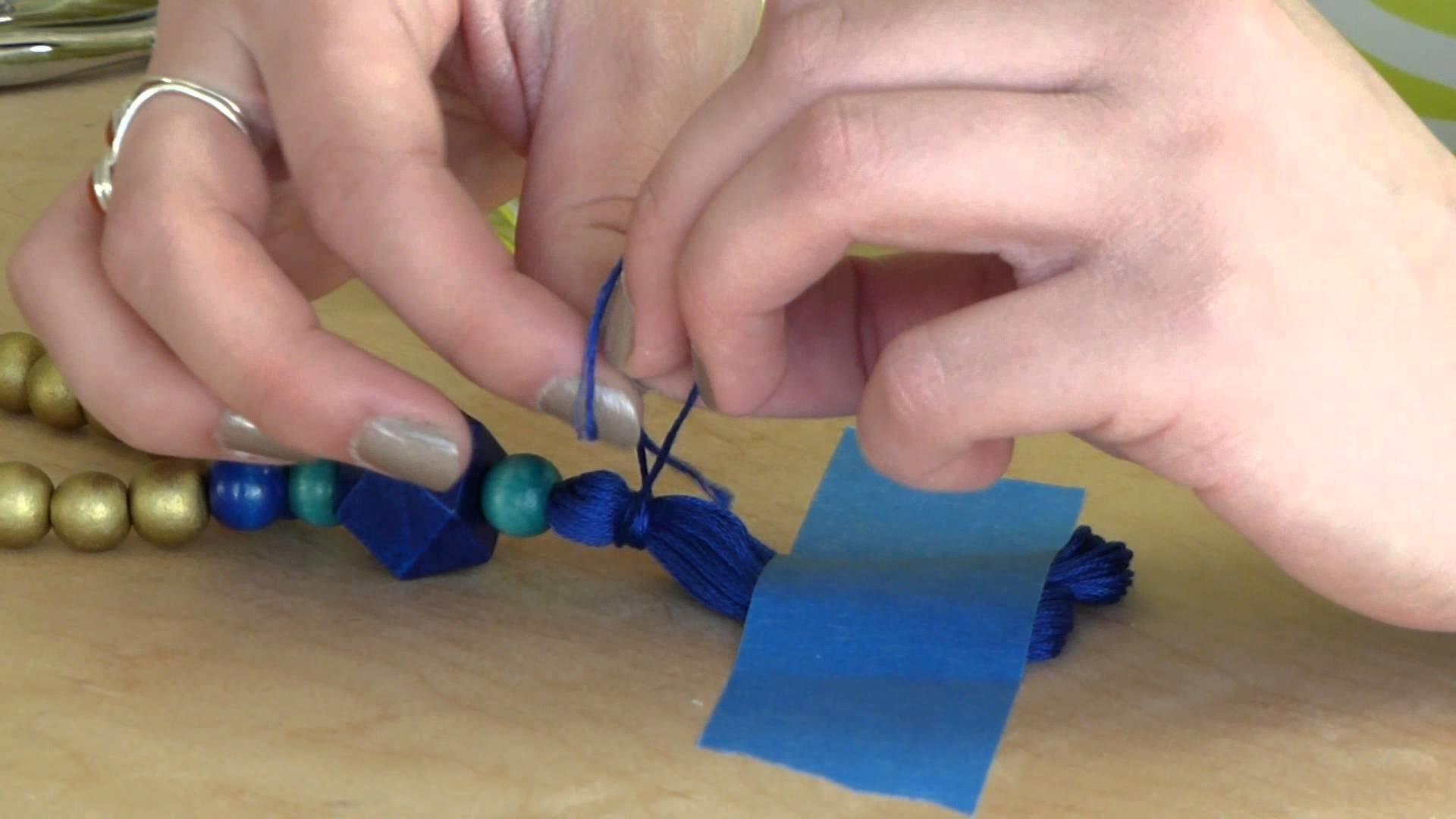 DIY Jewelry Tutorial: How To Make a Tassel Necklace (Fringe.Boho)