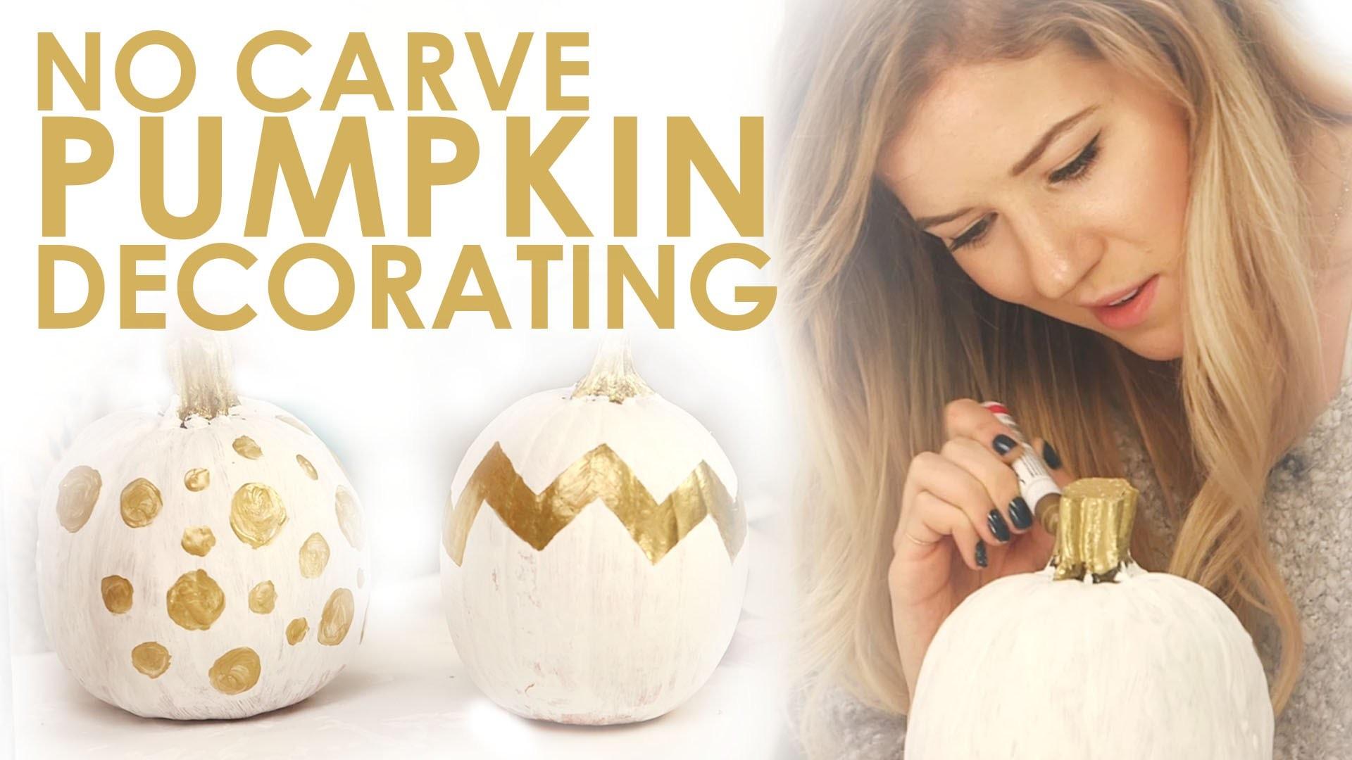DIY No Carve Pumpkin Decorations for Fall!