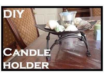 DIY Seashell Candle Holder!
