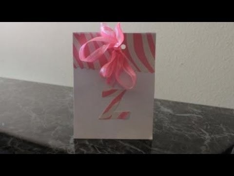 Easy Card to Make: Handmade Invite or Card using a Gift Bag