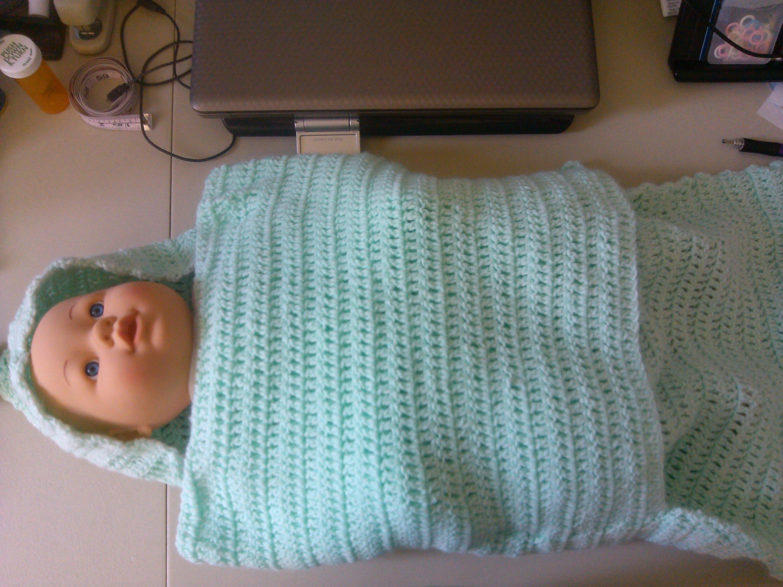 Easy Crochet baby swaddler style blanket