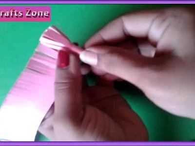 Easy paper flower making craft for children