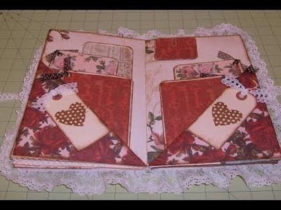Envelope Mini Album Scrapbook Roses are Red