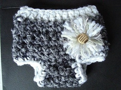 HOW TO CROCHET A DIAPER COVER, tushie, nappie, bum cover, pixie hat companion.