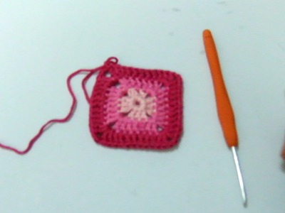 How to crochet a solid granny square-Crochet for beginner step by step