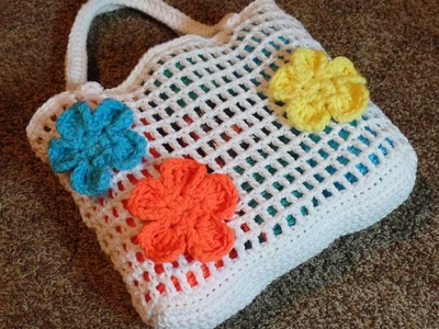 How To #Crochet Summer Beach Bag #TUTORIAL DIY Handbag Free projects