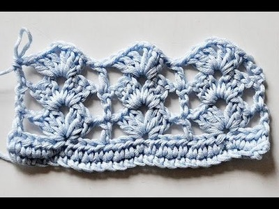 """How to Crochet * Super Easy Shell Stitch """"Rows of Shells"""""""