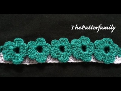 How to Crochet the Edge Border Stitch Pattern #21 │ by ThePatterfamily