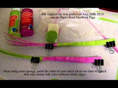 How To Hand Paint Paper For Making Paper Beads