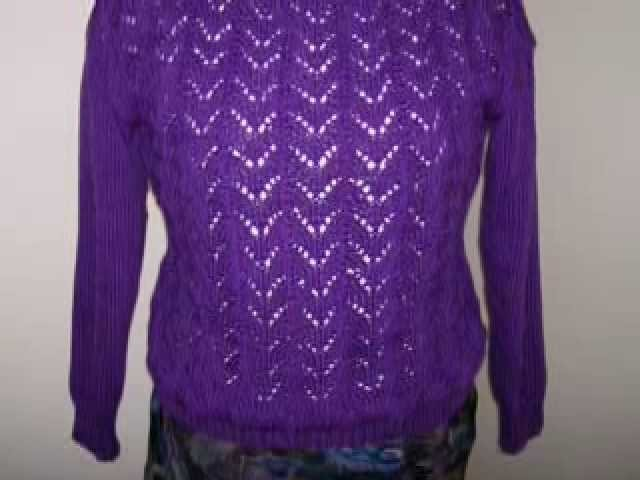 How to Knit a Lace Sweater - Lesson 1