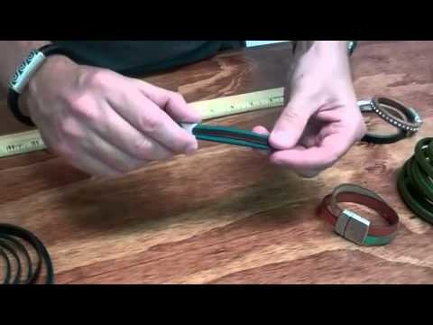 How to make a bracelet using our flat leather. By bestbeads.com