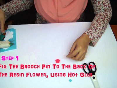 How To Make DIY Shawl. Hijab. Stick Pins - Tutorial 1