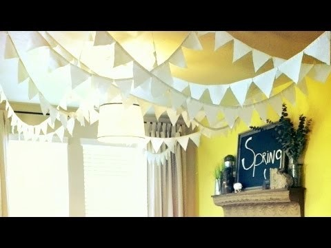 How to make flags. banners DIY party decoration