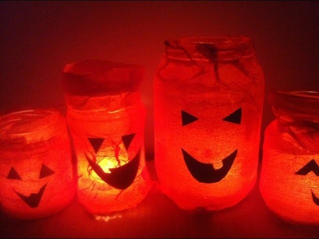 How to Make Halloween Lanterns with Glass Jars