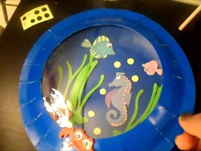 Kids Fun Crafts Aquarium Card and Plate