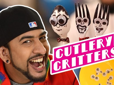 Mad Stuff with Rob - MSWR Shorts | How to make spoon & fork critters | DIY Craft for children