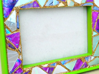 Make a Mosaic Frame from Old CDs - DIY Crafts - Guidecentral