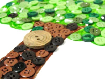 Make Simple Button Tree Wall Decor - DIY Home - Guidecentral