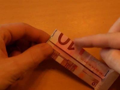 Money Shirt fold Origami Hemd aus Geldschein falten