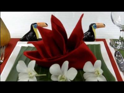 Napkin Folding: How to fold Bird of Paradise
