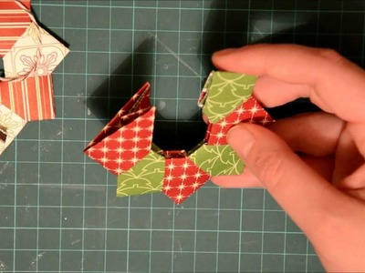 Oragami Christmas Wreath Ornament