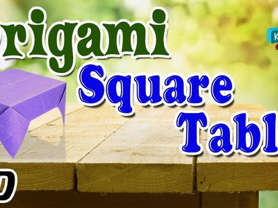 Origami - How To Make Table ( Square ) - Simple Tutorial In English