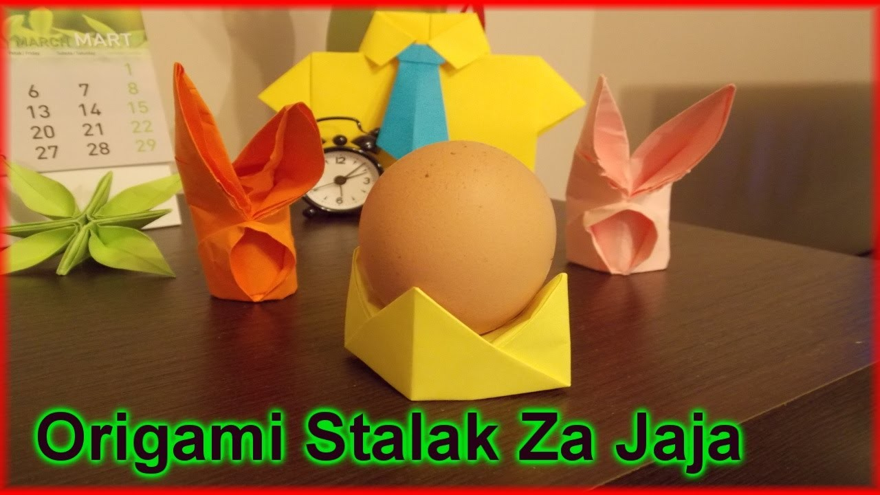 Origami: Uskršnji Stalak Za Jaja Od Papira - How To Make Easter Egg Cup