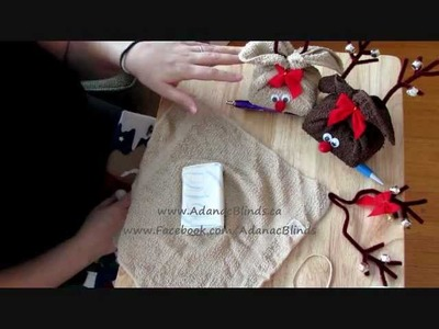 Reindeer Soap.Towel Gift Set - Christmas Crafting [Tutorial]