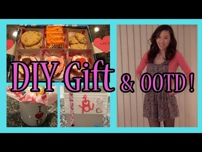 Simple & Thoughtful DIY Gifts! (What I gave my boyfriend for Valentine's 2013! + OOTD)