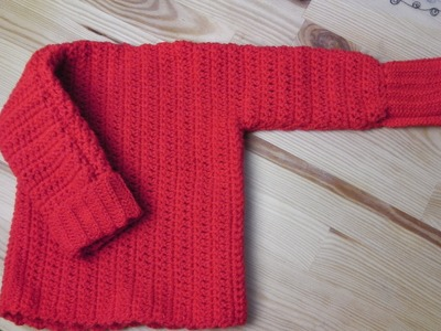 Sweater pullover lefty crochet tutorial
