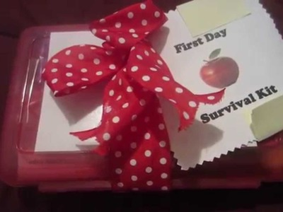 Teacher Survival Kit. Gift Craft Idea