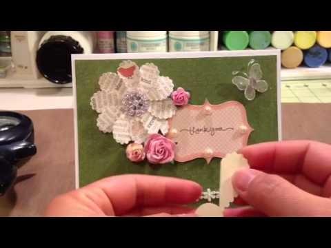Thank you card & DIY paper flower