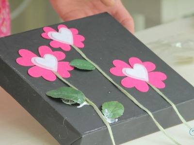 Valentine's Day Arts and Crafts: Heart Flowers Canvas Art