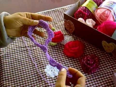 Video 1 introducción flores a ganchillo