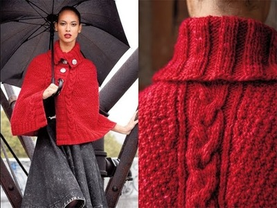 #16 Buttoned Cape, Vogue Knitting Winter 2011.12