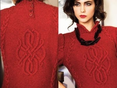 #2 Slant Cable Pullover, Vogue Knitting Winter 2012.13